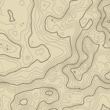 Topographic map background concept with space for your copy. Topography lines art contour , mountain hiking trail Stock Images