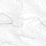 Topographic map background concept with space for your copy. Topography lines art contour , mountain hiking trail. Shape vector design. generated vector illustration