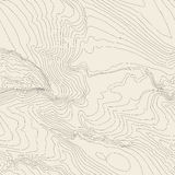 Topographic map background concept with space for your copy. Topography lines art contour , mountain hiking trail Royalty Free Stock Photography