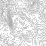 Topographic map background concept with space for your copy. Topography lines art contour , mountain hiking trail. Shape vector design Royalty Free Stock Photography