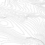 Topographic map background concept with space for your copy. Topography lines art contour , mountain hiking trail Stock Photos