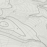 Topographic map background concept with space for your copy. Topography lines art contour , mountain hiking trail Stock Photography