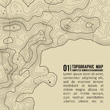 Topographic map background with space for copy . Line topography map contour background , geographic grid abstract Royalty Free Stock Images