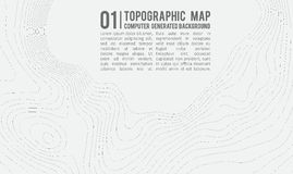 Topographic map background with space for copy . Line topography map contour background , geographic grid abstract Royalty Free Stock Photos