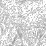 Topographic map background with space for copy . Line topography map contour background , geographic grid abstract. Vector illustration . Mountain hiking trail Stock Photo