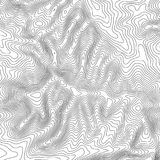 Topographic map background with space for copy . Line topography map contour background , geographic grid abstract. Vector illustration . Mountain hiking trail Stock Photography