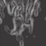 Topographic map. Contour abstract background. Vector illustration stock illustration