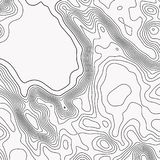 Topographic map. Contour abstract background. Vector illustration royalty free illustration