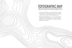 Topographic map contour background. Line map with elevation. Geographic World Topography map grid abstract. Vector illustration stock illustration