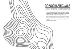 Topographic map contour background. Line map with elevation. Geographic World Topography map grid abstract vector. Illustration stock illustration
