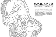 Topographic map contour background. Line map with elevation. Geographic World Topography map grid abstract vector. Illustration royalty free illustration