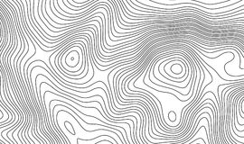Topographic map contour background. Topo map with elevation. stock illustration