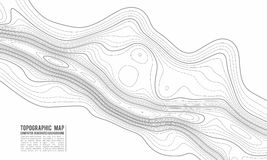 Topographic map contour background. Topo map with elevation. Contour map vector. Geographic World Topography map grid. Abstract vector illustration stock illustration