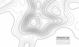 Topographic map contour background. Topo map with elevation. Contour map vector. Geographic World Topography map grid vector illustration