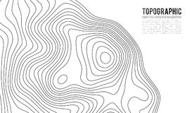 Topographic map contour background. Topo map with elevation. Contour map vector. Geographic World Topography map grid. Abstract vector illustration royalty free illustration