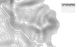 Topographic map contour background. Topo map with elevation. vector illustration
