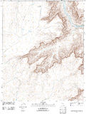 Topographic map of the Grand Canyon Stock Photo