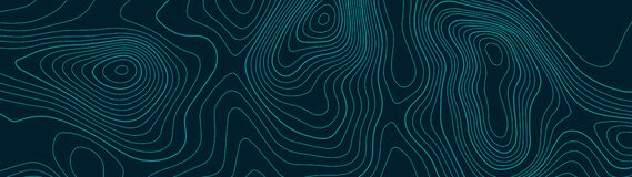 Topographic map lines background. Abstract vector illustration