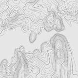 Topographic map lines background. Abstract vector illustration. Contour vector map stock illustration