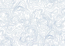 Topographic map seamless pattern. Monochrome background with abstract shapes. vector illustration