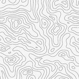 Topographic Map Seamless Pattern Royalty Free Stock Images