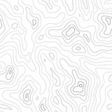 Topographic Map Seamless Pattern Stock Images