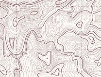 Topographic map. Trail mapping grid, contour terrain relief line texture. Cartography concept. Topographic map. Trail mapping grid, contour terrain relief line stock illustration