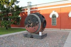 Topographic satellit 'komet 'för kapsel, Fästning för Peter-Pavel ` s St Petersburg fotografering för bildbyråer