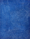 Topographical Blueprint Pattern Stock Image