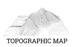 Topographical map of the locality, vector illustration Stock Photography