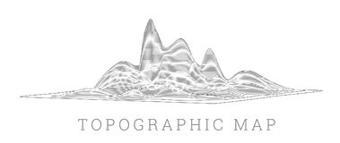 Topographical map of the locality, vector illustration. With lines stock illustration