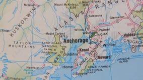 Topographical map of the USA. Alaska Royalty Free Stock Photography