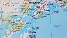 Topographical map of the USA. Alaska Stock Photos