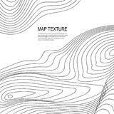 Topographical Terrain Map with Line Contours. Topographical vector background with place for text. Geodesy contouring map texture with line contours of terrain royalty free illustration