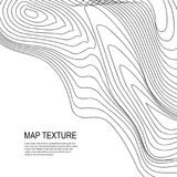 Topographical Terrain Map with Line Contours. Topographical vector background with place for text. Geodesy contouring map texture with line contours of terrain vector illustration