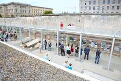 Topographie de la terreur, musée d'holocauste à Berlin photographie stock