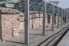 Topographie de musée de terreur, Berlin, Allemagne images stock