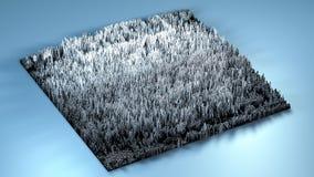 topographie du rendu 3d avec des cubes Photos libres de droits
