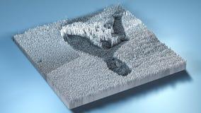 topographie du rendu 3d avec des cubes Photographie stock