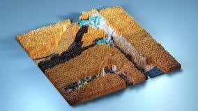 topographie du rendu 3d avec des cubes Photographie stock libre de droits