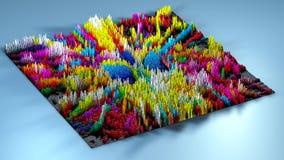 topographie du rendu 3d avec des cubes Image stock