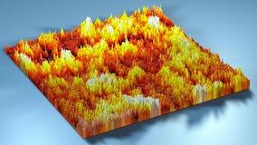topographie du rendu 3d avec des cubes Photos stock