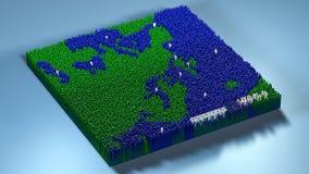 topographie du rendu 3d avec des cubes Image libre de droits