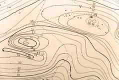 Topographische Karte stockfotos