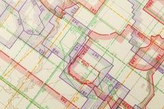 Topographische Karte Stockbild