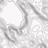 Topographische Karte Konturnzusammenfassungshintergrund Auch im corel abgehobenen Betrag lizenzfreie abbildung