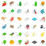 Topography icons set, isometric style. Topography icons set. Isometric set of 36 topography vector icons for web isolated on white background Royalty Free Stock Photography