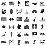 Topography icons set, simple style Stock Photos