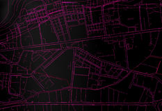 Topography map city. Dark Topography map city top view. 3d rendering Royalty Free Stock Image