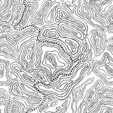 Topography seamless pattern Royalty Free Stock Image